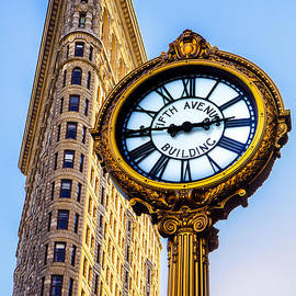 Flatiron and Clock by Jerry Fornarotto