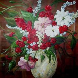 Eloise Schneider - Flowers in an Antique Yellow Vase