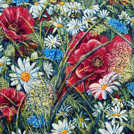 Drinka Mercep - Flowers Poppies and Daisies No.5