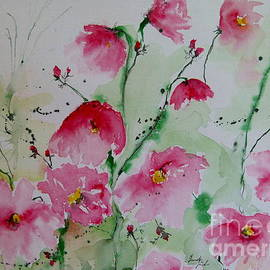 Ismeta Gruenwald - Flowers - watercolor painting
