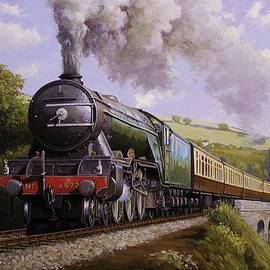 Flying Scotsman on Broadsands viaduct. by Mike Jeffries