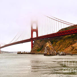 Fog Lifting Above the Golden Gate Bridge by Rincon Road Photography