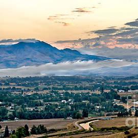 Fog Over Emmett Valley by Robert Bales