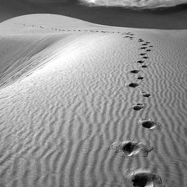 Footprints in the Sand by Mike Nellums