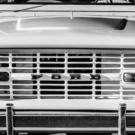 Ford Bronco Grille Emblem -0014bw by Jill Reger