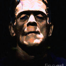 Wingsdomain Art and Photography - Frankenstein - Painterly - Black