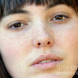 Freckle Faced Beauty Model closeup by Jim Fitzpatrick
