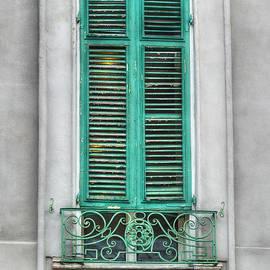 Brenda Bryant - French Quarter Window in Green