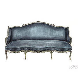 French Settee  by Jazmin Angeles