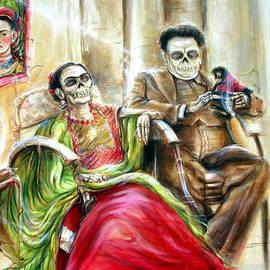Heather Calderon - Frida and Diego with Pet Monkey