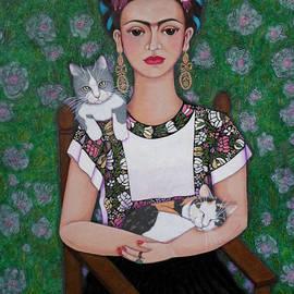 Frida cat lover  by Madalena Lobao-Tello