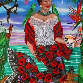 Frida Kahlo as a Mermaid by Ilene Satala