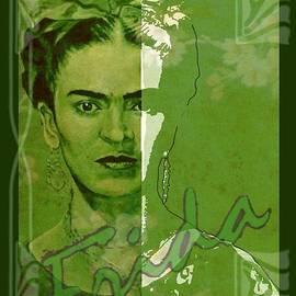 Frida Kahlo - between worlds - green by Richard Tito