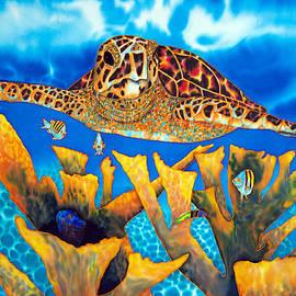 Daniel Jean-Baptiste - Friendly Hawksbill Sea Turtle
