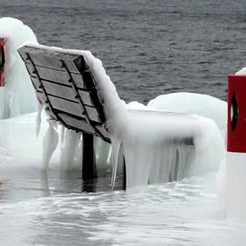 Frozen Dock Bench by David T Wilkinson