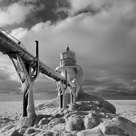 Dan Sproul - Frozen Lighthouse Lake Michigan