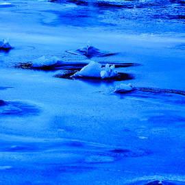 Ice Blue Frozen Ocean by Roxy Hurtubise