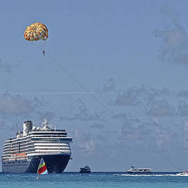 Fun In The Sun - Ship at Anchor by Michael Flood