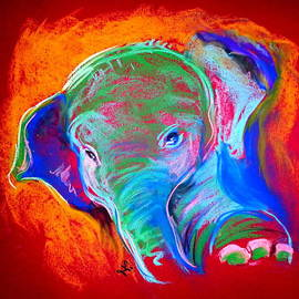 Sue Jacobi - Funky Baby Elephant Blue