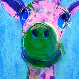 Sue Jacobi - Funky Giraffe in Pink