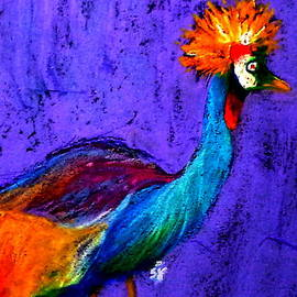 Sue Jacobi - Funky Grey Crowned Crane Art Prints