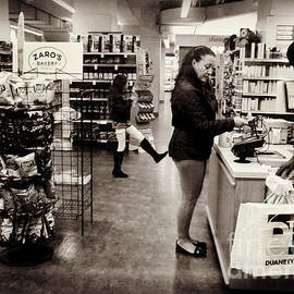 Miriam Danar - Funny - Found While Editing - Woman Shopping in Store with Child - New York City Street Scene