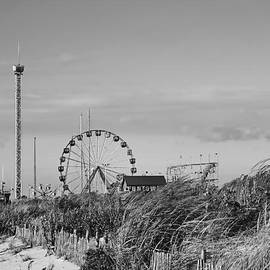 Funtown Pier Seaside Park New Jersey Black And White by Terry DeLuco