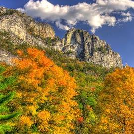 Michael Mazaika - Galloping Cumulus Above Seneca Rocks - Seneca Rocks National Recreation Area WV Autumn Mid-Afternoon