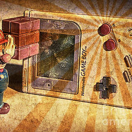Game Boy and Mario - Vintage by Stefano Senise