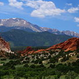Garden Of Gods View Panorama by Christiane Schulze Art And Photography