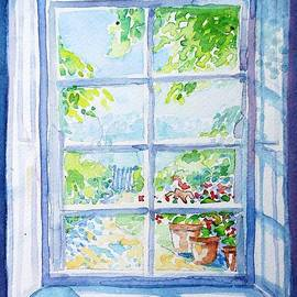 Garden Path through a Summer Window  by Trudi Doyle
