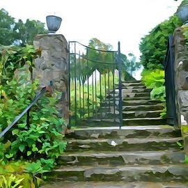 Charlie and Norma Brock - Garden Steps