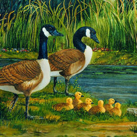 Geese by Wanda Coffey