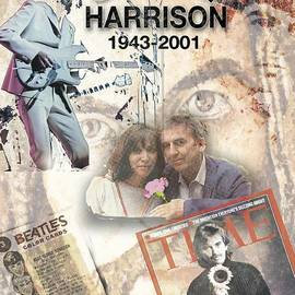George Harrison Memorial Collage by Melinda Saminski