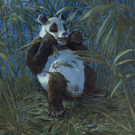 ACE Coinage painting by Michael Rothman - Giant Panda