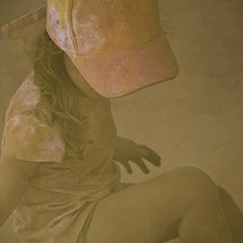 Girl In A Dust Storm by Debbie Cundy