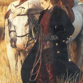 Girl With Horses by Bretislav Stejskal