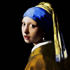 Girl With Pearl Ear Ring by Johannes Vermeer