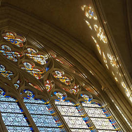 Glorious Colorful Sunlight - a Stained Glass Church Window in a Royal Chapel Paris France by Georgia Mizuleva