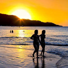 Golden Costa Rican Sunset - Tropical Beach by Mark E Tisdale