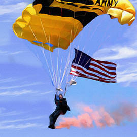 Golden Knights Painting by Bob and Nadine Johnston