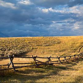 Golden Light on a Stormy Prairie by Kathleen Bishop