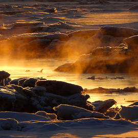 Golden Sea Smoke at Sunrise by Dianne Cowen Photography