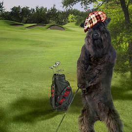 Golfing Terrier  by Regina Femrite