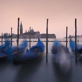 Gondolas and Isola di San Giorgio by Luca Battistella