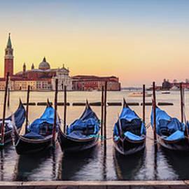 Gondolas In Front Of San Giorgio by Ed Norton