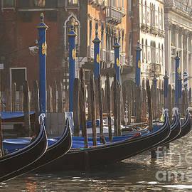 Gondolas in sunset by Patricia Hofmeester