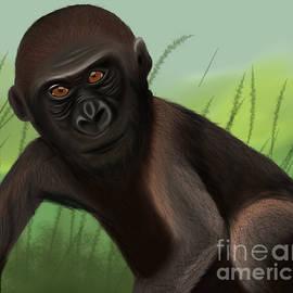 Gorilla Greatness by Barefoot Bodeez Art