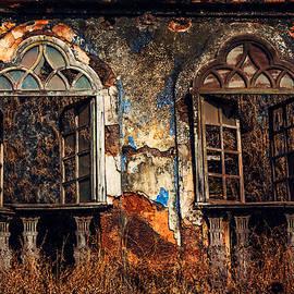 Jenny Rainbow - Gothic Windows. Old Portuguese House. Goa. India