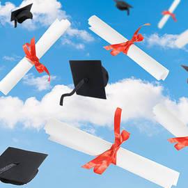 Amanda Elwell - Graduation Caps And Scrolls